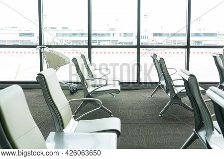 Empty Seats For Traveler In Thailand Airport Situation Of Coronavirus Disease (covid-19). Impact Of