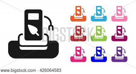 Black Petrol Or Gas Station Icon Isolated On White Background. Car Fuel Symbol. Gasoline Pump. Set I