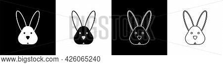 Set Animal Cruelty Free With Rabbit Icon Isolated Set Background. Vector