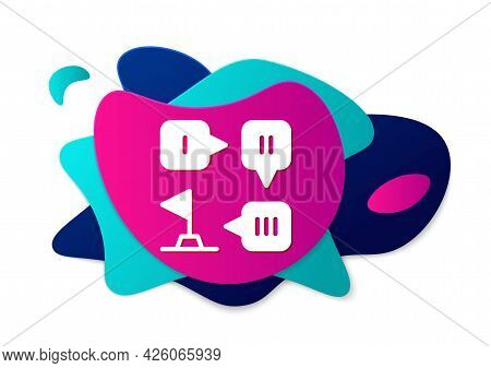 Color Planning Strategy Concept Icon Isolated On White Background. Formation And Tactic. Abstract Ba