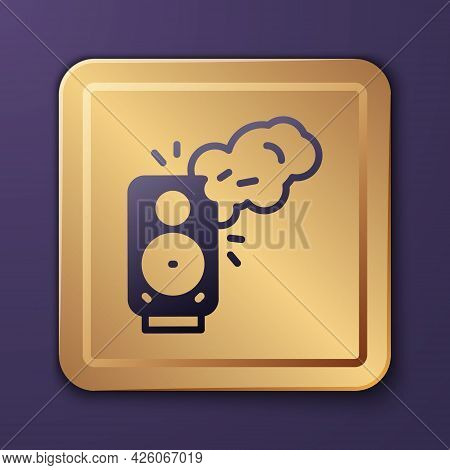 Purple Stereo Speaker Icon Isolated On Purple Background. Sound System Speakers. Music Icon. Musical