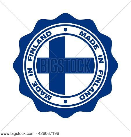 Print With Flag Of Finland And  Text