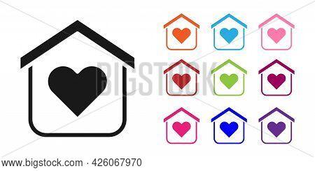 Black Shelter For Homeless Icon Isolated On White Background. Emergency Housing, Temporary Residence