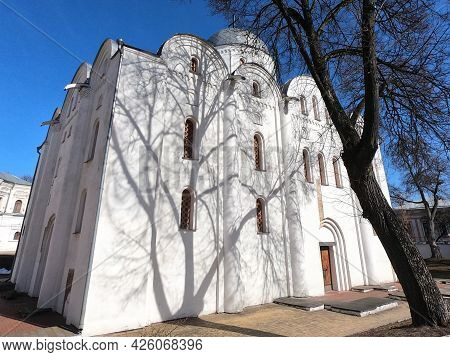 Boris And Gleb Cathedral In Chernihiv Or Borisoglebsky Cathedral. Medieval Church And Tomb Of Russia