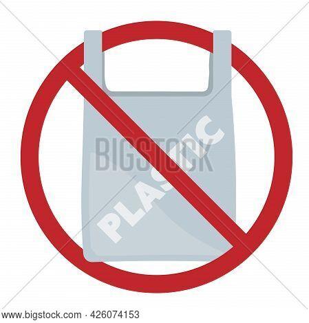 No Plastic Bags, Plastic Bag Free Sign Or Symbol Vector Illustration