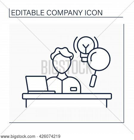 R And D Department Line Icon. Research And Development. Innovative Activities Inside Organization. C