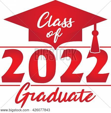 Red Congratulations Class Of 2022 Graduate Graphic Logo