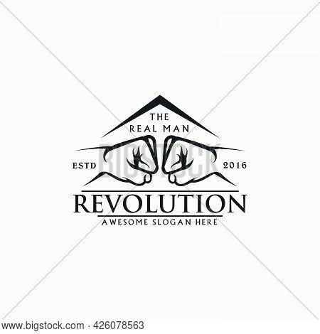 Fist Logo Design,punch Logo,fight Logo,revolution,strength,icon Symbol,vector Template