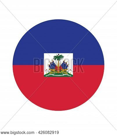 National Haiti Flag, Official Colors And Proportion Correctly. National Haiti Flag. Vector Illustrat