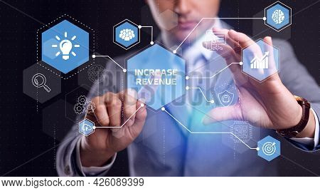 Increase Revenue Concept. Business, Technology, Internet And Network Concept