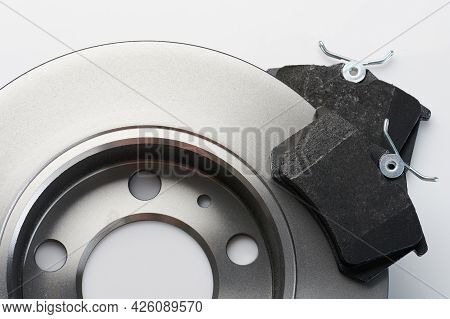 New Spare Brake Disk And Pad