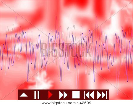 Abstract Musical Background Red
