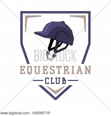 Equestrian Club Logo Design, Sports Club, Derby, Tournament, Competitions Emblem Vector Illustration