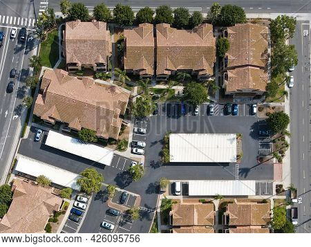 Private Community Of Condominium In The Neighborhood Of San Marcos, California, Usa. July 6th, 2021
