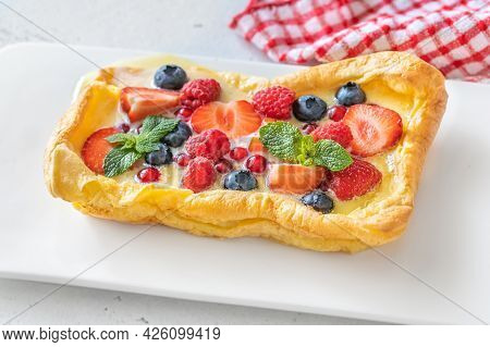 Finnish Pancake With Fresh Berries