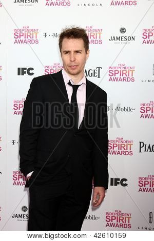 LOS ANGELES - FEB 23:  Sam Rockwell attends the 2013 Film Independent Spirit Awards at the Tent on the Beach on February 23, 2013 in Santa Monica, CA