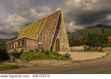 Little Chapel With A Non-common Shape In Colana, Catamarca, Argentina  Little Chapel With A Non-comm
