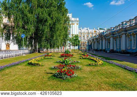 Flowers At Catherine Palace In Tsarskoe Selo (pushkin), Saint Petersburg, Russia