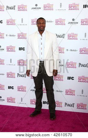 LOS ANGELES - FEB 23:  Chris Tucker attends the 2013 Film Independent Spirit Awards at the Tent on the Beach on February 23, 2013 in Santa Monica, CA