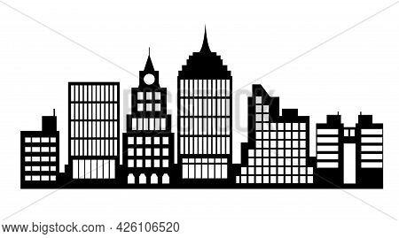 Cityscape Landscape Architecture City From Flat Urban Building