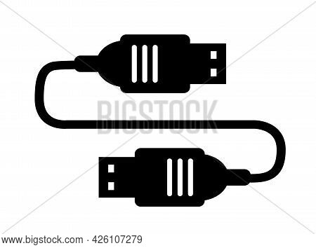 The Cable Usb Single Silhouette Icon For Design