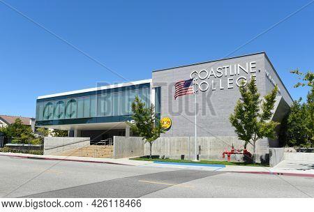 WESTMINSTER, CALIFORNIA - 5 JULY 2021: The Le-Jao Campus building of Coastline Community College near Little Saigon.