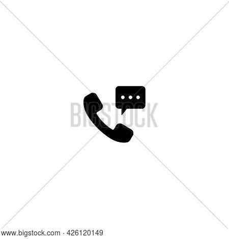 Phone Receiver Icon Vector. Telephone, Communication Symbol Image