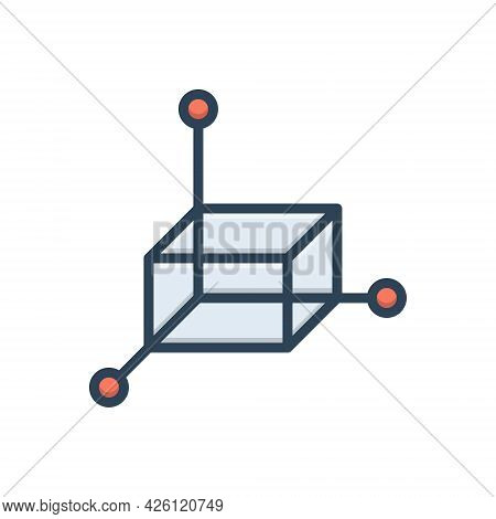 Color Illustration Icon For 3d Polygonal  3d-graphic Graphic Three Three-dimensional