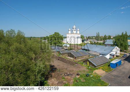 Rostov City, Yaroslavl Region, Russia-20.05.2021: Greenhouse Farm Of The Spaso-yakovlevsky Monastery