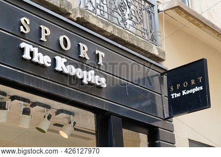 Montpellier , Ocitanie France  - 06 30 2021 : The Kooples Sport Logo Brand And Sign Text Front Of St