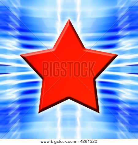 Red Star On Blue