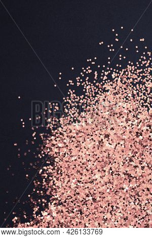 Dusty copper particles pattern background illustration