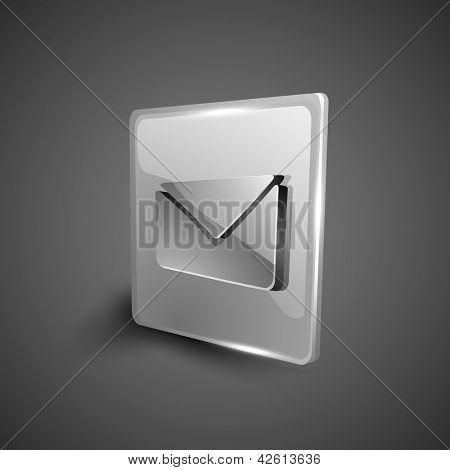 Glossy 3D web 2.0 message symbol icon set. EPS 10