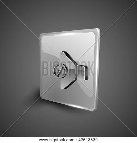 Glossy 3D web 2.0 mute symbol icon set. EPS 10