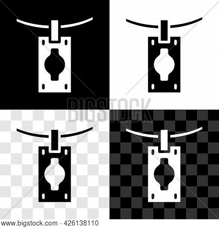 Set Money Laundering Icon Isolated On Black And White, Transparent Background. Money Crime Concept.