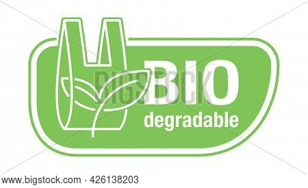 Biodegradable Horizontal Sticker - Packet Turns To Plant Branch - Eco Friendly Compostable Material