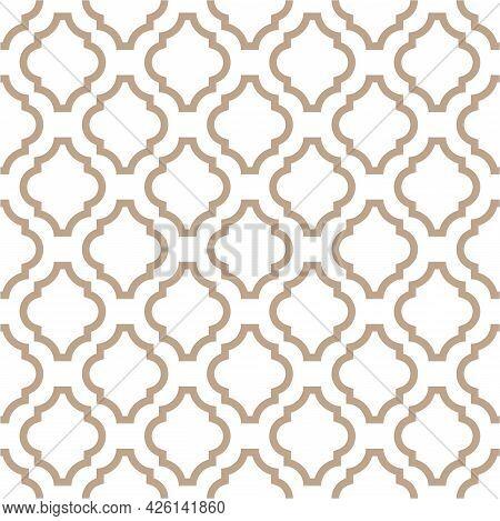 Monochrome Neutral Beige Geometric Seamless Pattern. Retro Tileable Backgrounds Line Grid. Vintage S