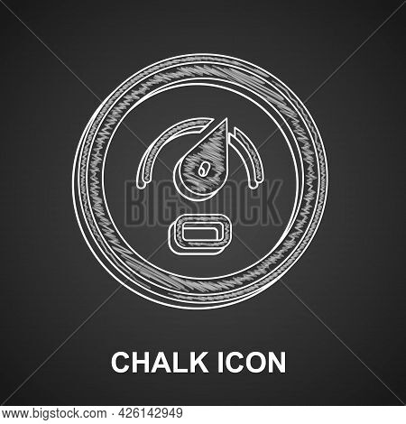 Chalk Digital Speed Meter Concept Icon Isolated On Black Background. Global Network High Speed Conne