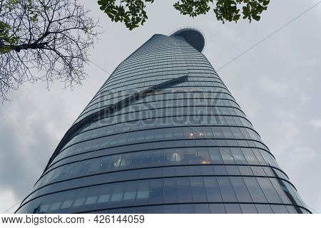 Ho Chi Minh, Vietnam - Oct 18, 2019 : View Of Modern High-rise Buildings Bitexco Financial Tower In