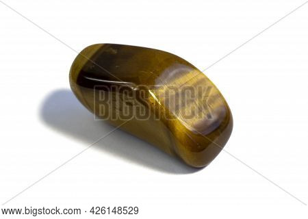 Macro Photography Of Natural Mineral Gemstone Geological Collection Tumbled Tigers Eye Tiger-eye Iso
