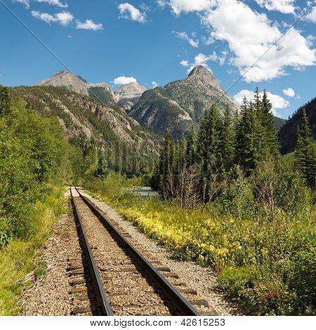 Durango And Silverton Narrow Gauge Railroad Tracks