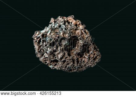 Lava Rock Isolated On A Black Background