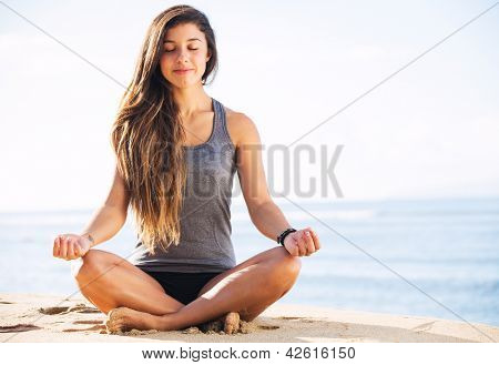 Morning Yoga Meditation by the Beach