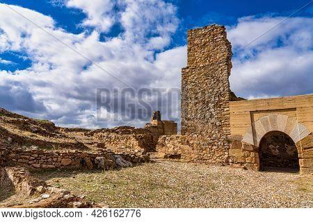Alcazaba De Reina, Moorish Fortress Over Village Of Reina, Badajoz Province, Extremadura, Spain