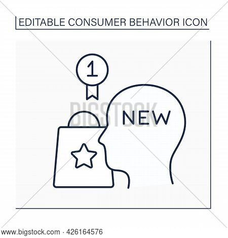 Innovators Line Icon. People Try Products For The First Time. Examination Goods And Services. Consum