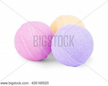 Aromatic Bath Bomb Isolated On White Background, Nobody, Heap, A, Ball, Wellness, Shot, White