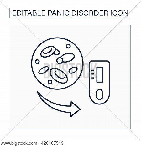 Hypoglycemia Line Icon.increase In Epinephrine. Neuropsychiatric Symptoms. Healthcare. Panic Disorde