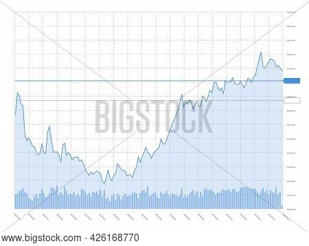 Stock Market Investment Trading Technical Analysis Candlestick Chart On White Background. Business C