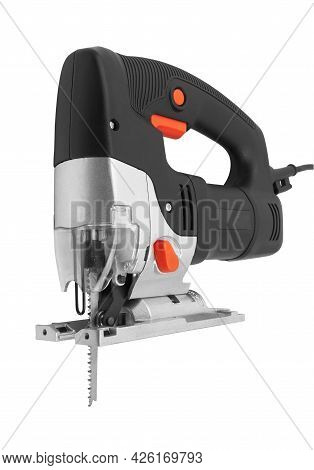 Electric Jig Saw Machine Isolated On White Background