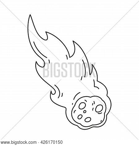 Meteorite Icon Vector Icon.editable Stroke.linear Style Sign For Use Web Design And Mobile Apps,logo